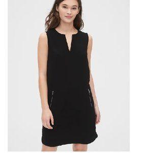 NWT Gap Zip Pocket Dress 14 Black D348
